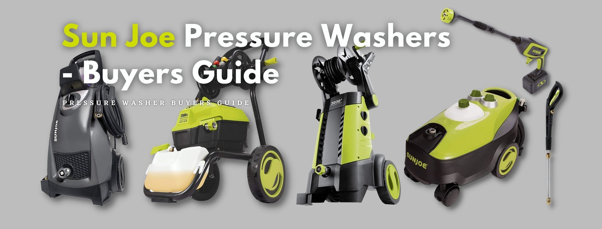 Sun Joe Pressure Washers - Buyers Guide