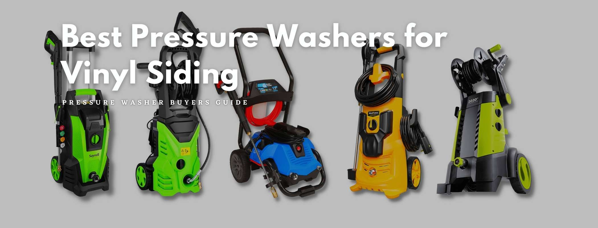 Best Pressure Washers for Vinyl Siding Buyer's Guide