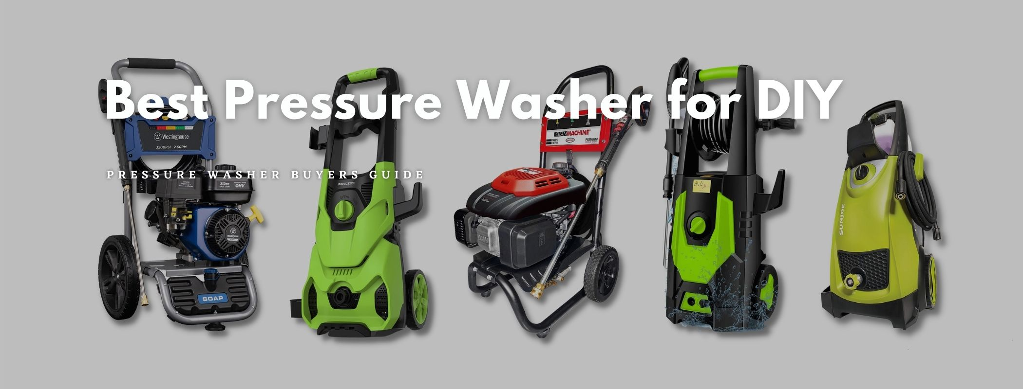 Best Pressure Washer for DIY – Buyers Guide
