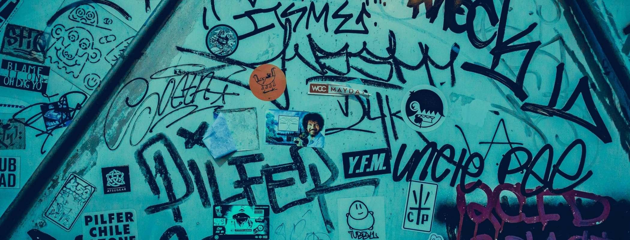 graffiti with pressure washer