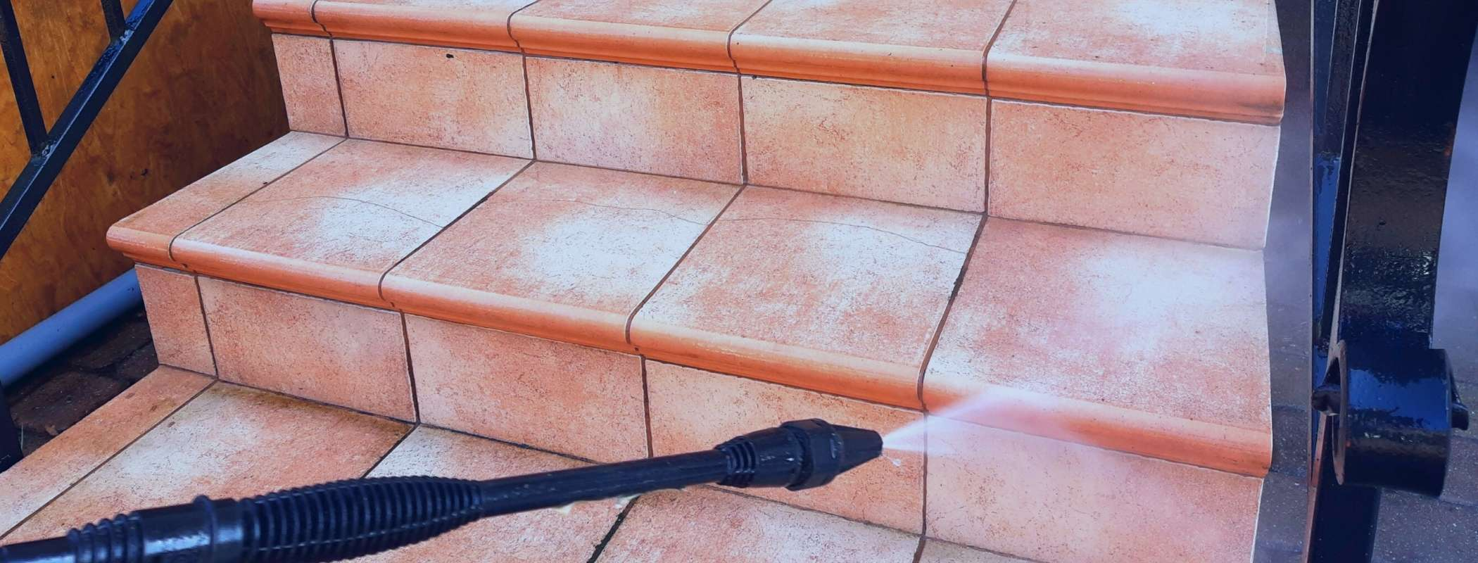 pressure washing stairs at home